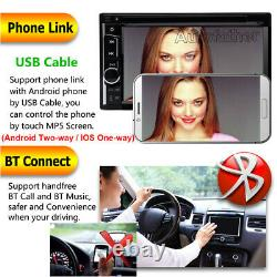Double Din Car Stereo DVD Player Mirror Link for GPS 6.2'' HD USB Radio + Camera