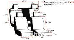 Durable 5-Seat Car Seat Cover Chair Cushion Black 3D Cozy Skin-friendly Plush