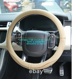 Faux Leather Beige Steering Wheel Cover Fits Nissan