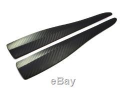 For Many Vehicles 2x Universal Spoiler Fender Corner Bumper in Carbon Look