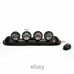 Four White Lens 4X4 Off Road Roof Top Fog Lamp H3 Bulbs Light Bar SUV #601 ART