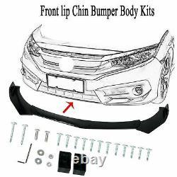 Front Bumper Lip Spoiler Splitter Protector + Strut Rods For AUDI A3 A4 A5 A6 A7