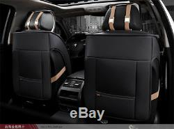 Full Seat Luxury Leather Breathable Car Seat Cover Cushion 3D Comfortable