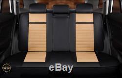 Full Set Car Seat Cover 5-Seats SUV Sedan Front+Rear Top Microfiber Leather 7pcs