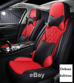 Full Set Deluxe Edition Car 5-Seats PU Leather Seat Cover Cushion Accessories