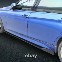 Glossy Black Car Front Bumper Lip Spoiler +78.7 Side Skirt Splitter Universal