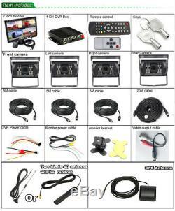H. 264 Car DVR AHD SD 4G Wireless GPS Realtime Video Recorder Box 7 HD Monitor