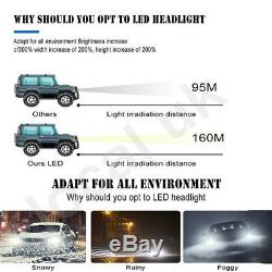 H7 800W 300000LM 4-Sided LED Headlight Kit High or Low Beams Bulb 6500K Bright