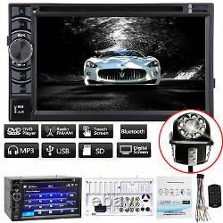 HD Double 2DIN 6.2 Car Stereo CD DVD Player Radio Bluetooth FM AM TV USB MP3