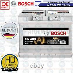 Heavy Duty AGM Bosch Car Van Battery 12V 70AH 760A 5 Year Warranty Next Day