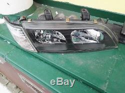 JDM Genuine 95-02 Infiniti G20 Nissan Primera Camino P11 Black Xenon Headlights