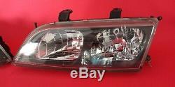 JDM Nissan Primera P11 Infiniti 95-01 G20 Kouki Headlights Set Xenon Blackout