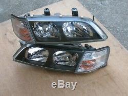Jdm Nissan Primera P11 Infiniti G20 Kouki Black Housing Hid Head Lights Oem