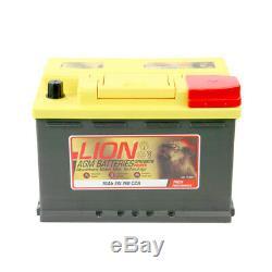 Lion AX570760 AGM 096 Car Battery 3 Years Warranty 70Ah 760cca 12V Electrical
