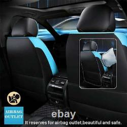 Luxury 5-Seat Car Seat Cover Universal Front&Rear PU Leather Protector Cushion