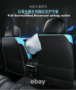 Luxury Full Set PU Leather Car Seat Cover Auto Front+Rear Cushion Breathable