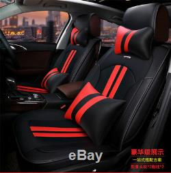 Luxury PU leather car cushion seat covers Full Front+Rear Cushion 5-Seats