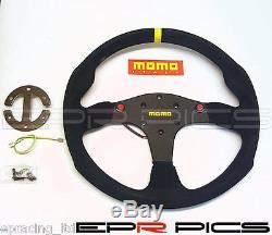 Momo Mod 80 Evo Suede Steering Wheel -Genuine Item- Honda Nissan Toyota Mazda