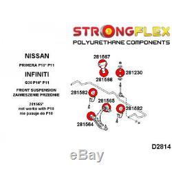 Nissan Primera P11 kit silent bloc de suspension avant polyuréthane