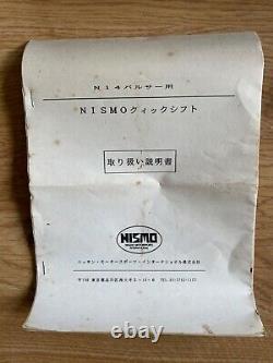 Nissan Pulsar Nismo GTI-R Short Shifter Rare N14 RNN14 P10 Primera P11 Old Logo
