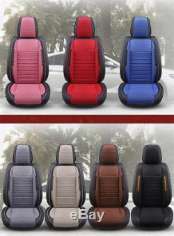 PU Leather 5-Seater Car Seat Cover Protector Cushion Accessories buckwheat husk