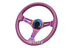 Pink Neo Chrome TS Steering Wheel + Boss Kit for NISSAN 023