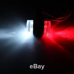 Red/White Side Marker 12 LED Light Lamp For Trailer Truck Lorry Caravan 10-30V
