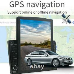 Rotatable 10.1in 1DIN Android 8.1 Quad-core Car Stereo Radio GPS WiFi MP5 Player