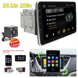 Rotatable 2Din 10.1in Android 9.1 Car Radio Stereo GPS WiFi FM MP5 Player+Camera