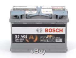 S5 A08 BOSCH AGM CAR BATTERY 12V 70Ah Type 096 OE QUALITY 5 YEAR WARRANTY