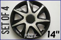 Set Of 4 14 Wheel Trims To Fit Nissan Almera, Micra, Primera + Free Gift #8