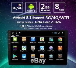 Singal Din 10.1 Octa-Core 2GB RAM 32GB ROM Car Stereo Radio GPS Wifi 3G 4G OBD