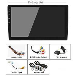 Single 1 Din 10.1 Car Stereo Radio GPS WiFi BT Quad-Core DVR TPMS OBD UK