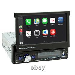 Single 1Din 7in Head Unit Car Stereo Radio MP5 Player BT USB Carplay Mirror Link