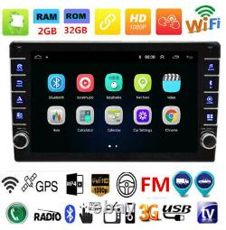 Single 1Din 9in Car Bluetooth Stereo FM Radio GPS Navigation 2G+32GB Android 8.1