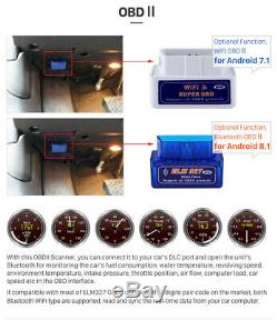 Single DIN Vertical Screen 10.1in Car Stereo Radio BT GPS WiFi MLK With4LED Camera