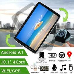 Single Din 10in Android 9.1 Car Stereo Radio GPS Navi WIFI FM MP5 Player +Camera