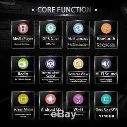 Single Din Android 8.1 9 4-core RAM 1GB ROM 16GB Car Stereo Radio GPS Wifi OBD