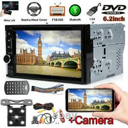Sony Len Camera+6.2''Car Double Din In Dash DVD CD Player Radio Stereo Mirroring