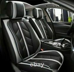 Sporty Grey PU Leather Full Set Car Seat Covers For Nissan Navara Qashqai Juke