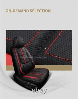 Standard Universal 5-Sits Car Seat Covers PU Leather Front Rear Interior Cushion
