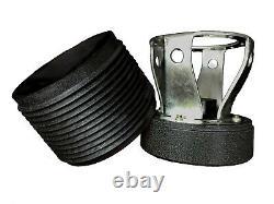 Steering Wheel Boss Kit TS White Neo Chrome + Quick Release BN for NISSAN 023
