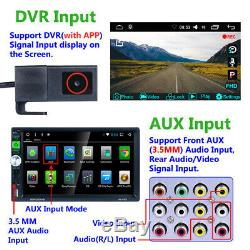 Steering Wheel Control Car FM Radio Head Unit BT Mirror Link GPS Nav DVR AUX RDS