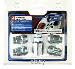 Sumex Anti Theft Locking Wheel Nuts Bolts + Key (12 x 1.25) for Nissan Pimera -5
