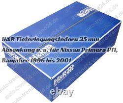 Tieferlegungsfedern 35mm u. A. Für Nissan Primera P11, Bj. 1996-2001