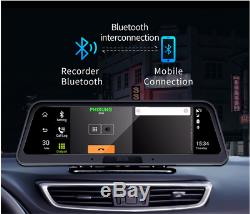 Touch 10'' Android Car DVR Recorder GPS 4G 1080P Dual Lens Camera Dash Cam WIFI