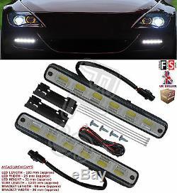 UNIVERSAL LED DRL LIGHTS DAYTIME RUNNING LIGHTS FOG COB WATERPROOF-Fits Nissan 1