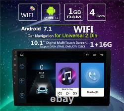 Ultra thin Android 7.1 10.1 1080P 2Din Touch Screen Core 1+16G Car Stereo Radio