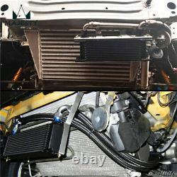 Universal 13 Row Thermostatic Oil Cooler Kit British Type+Mounting Brackets Kit