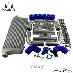 Universal 2.25 550x230x65mm Intercooler +Aluminum Pipe Hose Kit+Turbo Blow Off